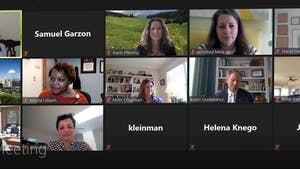Screenshot from the Faculty Advisory Committee meeting on Thursday, March 25, 2021.
