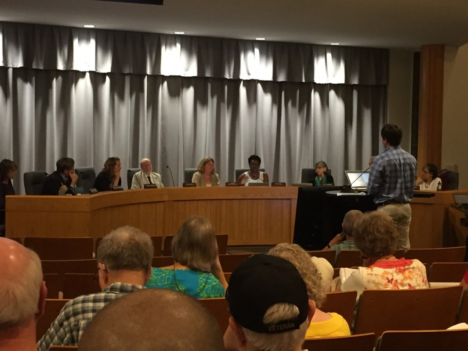 The Chapel Hill Town Council discussed parking and development at its meeting on Sept. 19, 2016.