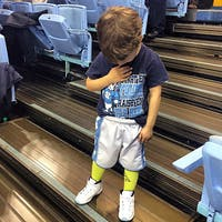 Brady Hoots, 3, became an internet hit recently after a video of him at a UNC men's basketball game was shared more than 6,000 times. Courtesy of Eric Hoots.