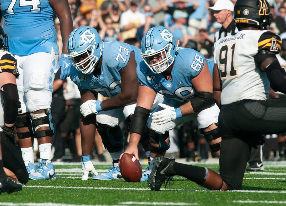 Analysis: Four returning starters look to anchor UNC football's offensive line