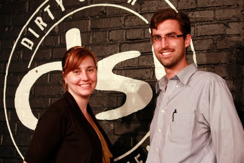 New DSI Comedy Theater Artistic Director, Paula Pazderka, stands alongside John Reitz, recently named production manager of DSI. The two new faces of DSI look to continue the theater's success after the departure of founder Zach Ward to Boston.