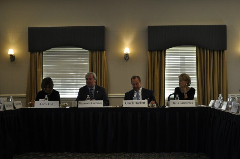 The Board of Trustees holds a special meeting at Paul J. Rizzo Conference Center Tuesday morning.