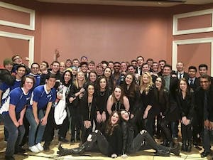 Clefchella is an annual acappella concert hosted by the Clef Hangers. Above arethe groups that performed in 2015. Photo Courtesy of Jared Weber.
