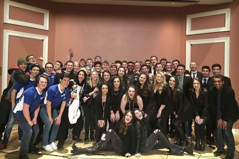 Clefchella is an annual a cappella concert hosted by the Clef Hangers. Above are the groups that performed in 2015. Photo Courtesy of Jared Weber.