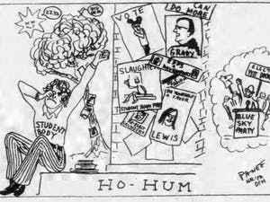 An editorial cartoon published in the Feb. 18, 1974 edition of The Daily Tar Heel.