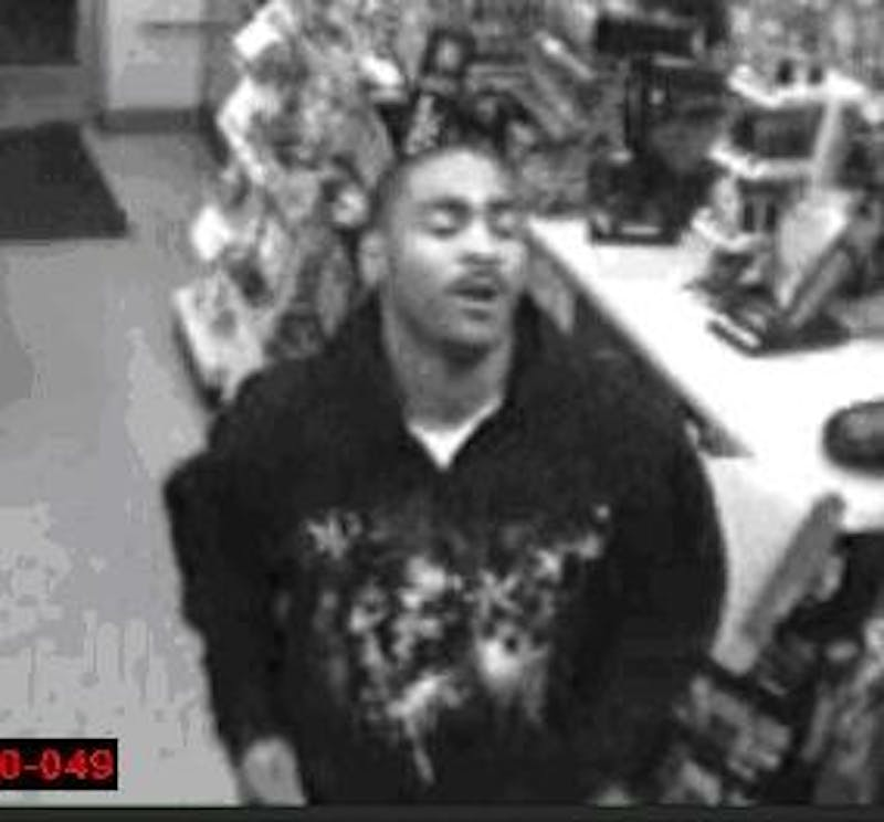 Surveillance cameras captured this image of the suspect.