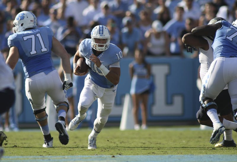 Former North Carolina quarterback Mitchell Trubisky (10) has been taken No. overall in the 2017 NFL Draft.