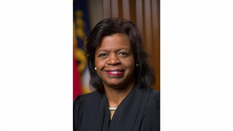 Cheri Beasley was sworn in as the chief justice of North Carolina's Supreme Court on Thursday, March 7, 2019 in Raleigh, N.C. Photo courtesy of the N.C. Judicial Branch.