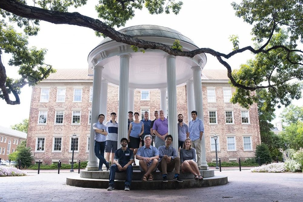 The Sustainable Access to Clean Water Creativity Hub team poses at the Old Well. Photo courtesy of Theo Dingemans.