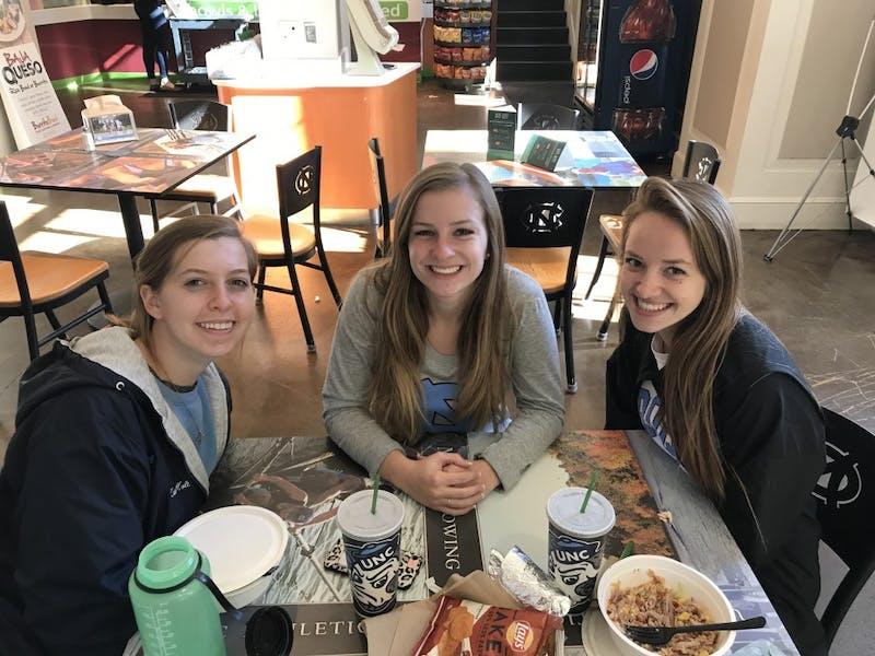 Katie Holt (left) Sydney Davis (middle) Mary Wardrop (right)