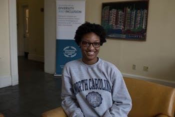 UNC junior Alexis Hall works with UNC Office of Diversity & Inclusion and runs two programs through it.