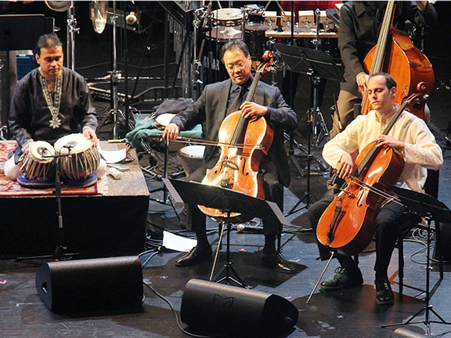 """The Silk Road Ensemble featuring renowned artist, Yo Yo Ma present the world premiere of """"Sacred Signs"""" as part of The Rite of Spring series at Memorial Hall."""