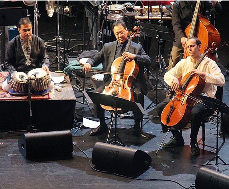 "The Silk Road Ensemble featuring renowned artist, Yo Yo Ma present the world premiere of ""Sacred Signs"" as part of The Rite of Spring series at Memorial Hall."