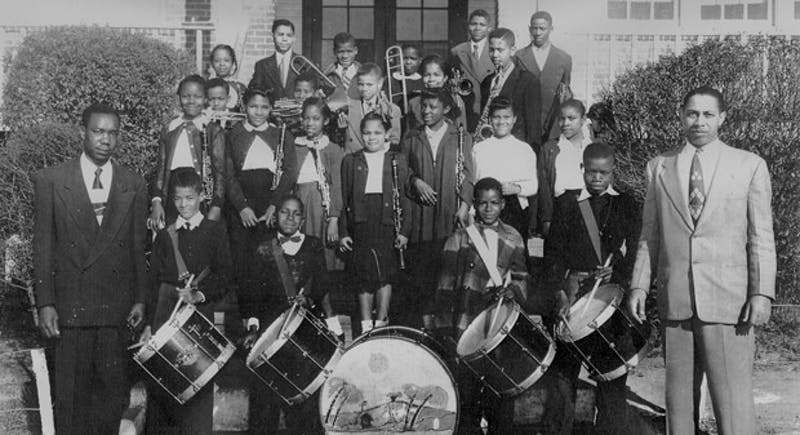 The Northside Elementary band in 1951.