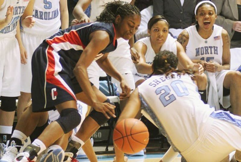 Connecticut came to the Smith Center last season and ripped North Carolina, 88-58. DTH File Photo