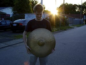 Atticus Reynolds is a UNC senior who composes the music and plays the drums on the EMIT EP. Photo Courtesy of Atticus Reynolds.