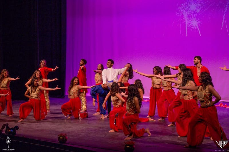 Chalkaa is a Bollywood-fusion dance group at UNC. Photo courtesy of Aishani Tingare.