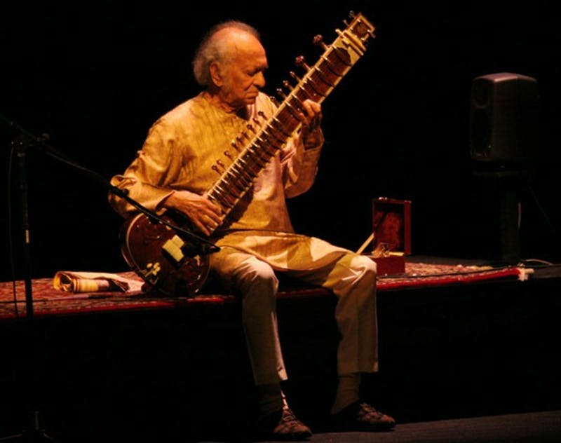 Ravi Shankar, a legendary musician from India, entertained a sold-out audience at Memorial Hall. DTH/Reyna Desai