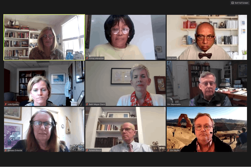 The UNC Faculty Executive Committee met with Provost Bob Blouin and pharmacy professor Tim Ives on Monday, Sept. 21, 2020 over Zoom.