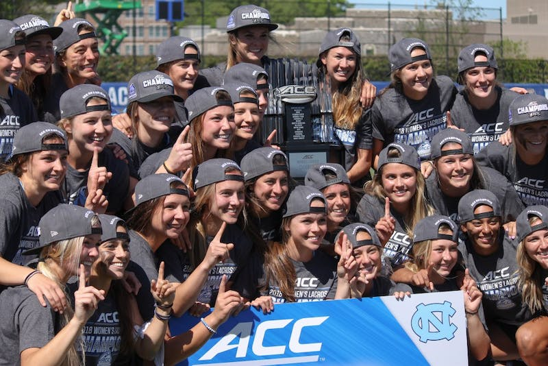 """The UNC women's lacrosse team received their third straight ACC Women's Lacrosse Championship trophy on Sunday evening at Koskinen Stadium."""