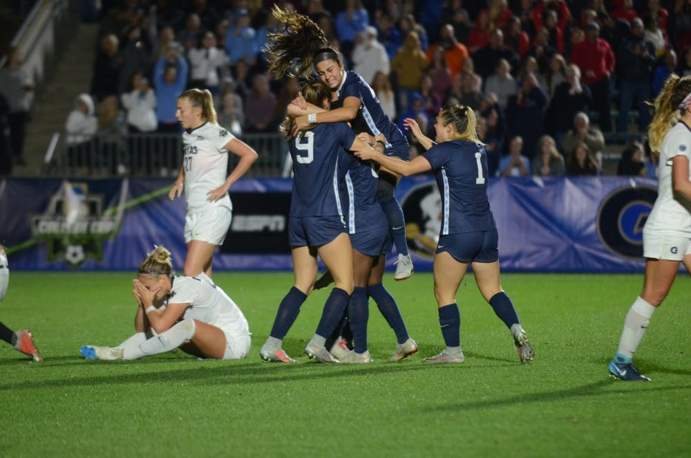 Ashley's goal in 108th minute sends UNC women's soccer to National Championship game