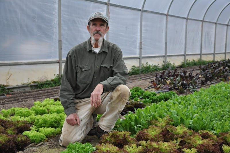 "Ken Dawson has been working on his farm, Maple Spring Gardens, for 36 years. He currently serves on the Orange County Food Council and is committed to providing local, organic produce to the Chapel Hill-Carrboro area. ""Raising food for the local community has been my life's work. The food council supports that work."""