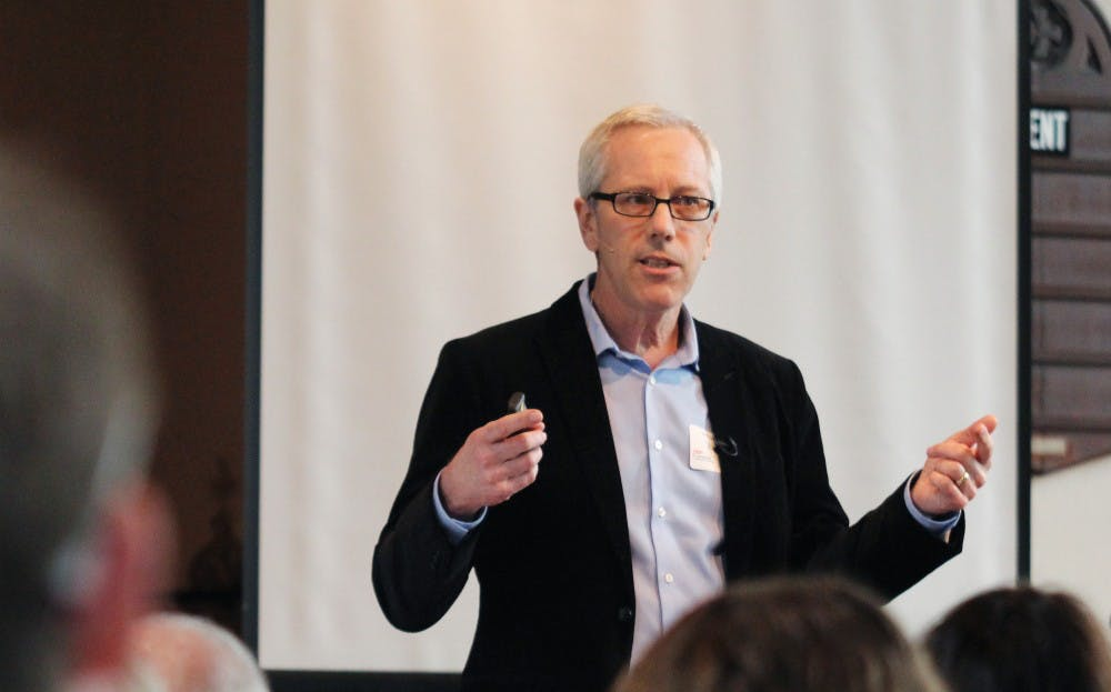 <p>Dr. Jim Thomas, as photographed in 2012, is an associate professor in the department of epidemiology at the Gillings School of Global Public Health. His research interests include the ethical practice of public health during a pandemic.&nbsp;</p>
