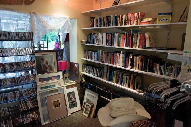 The Club Nova Thrift Shop has a large selection of art, music and books.