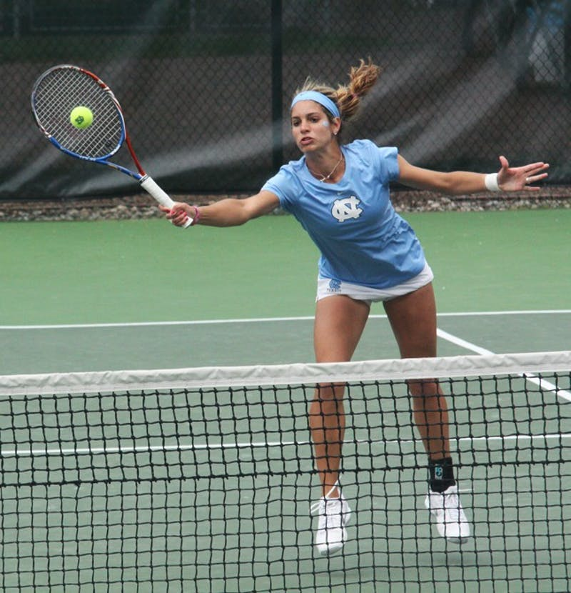 Lauren McHale picked up UNC's second singles win on Sunday by topping Caroline Magnusson to help give Jelena Durisic a senior day win.