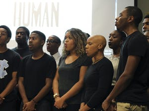 """The UNC chapter of the NAACP and the Xi Gamma chapter of Phi Beta Sigma Fraternity hosted """"I Am A Human"""", a panel that discussed recent minority injustices and possible strategic solutions featured the UNC Harmonyx on Tuesday evening."""