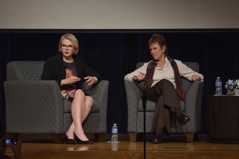 Margaret Spellings and Kati Haycock were guest speakers at the 2016 Carolina Forum on Thursday, September 22. Throughout the discussion, they answered questions submitted by students and the audience.