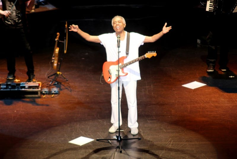 Brazilian rock star Gilberto Gil performs Monday night in Memorial Hall.