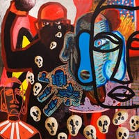 South-America, a work by Renzo Ortega, will be on display at the John and June Allcott Gallery. Courtesy of Renzo Ortega.