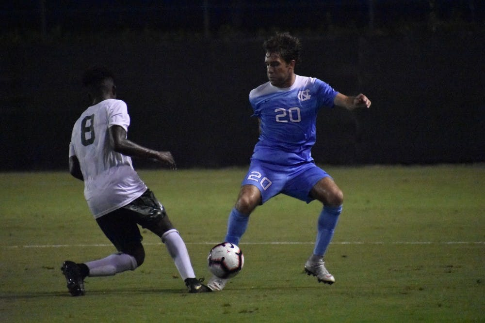 No. 5 UNC men's soccer left unsatisfied after 2-0 win over Jacksonville on Monday