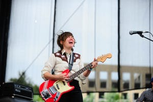 Heather McEntire, lead singer of Mount Moriah performs at Red Hat Amphitheater on Sept. 10.