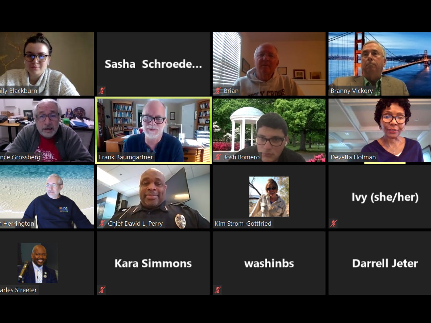 The Campus Safety Commission met on Wednesday, April 1, 2020 via Zoom to discuss COVID-19 and more. The commission debated weapons on all police calls and brought up the end-of-year report the commission will soon submit to Chancellor Kevin Guskiewicz.