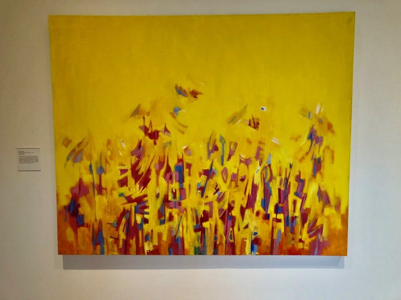 """""""Afternoon"""" by Norman Lewis is featured in the Nasher Museum of Art's exhibit """"Solidary & Solitary."""""""
