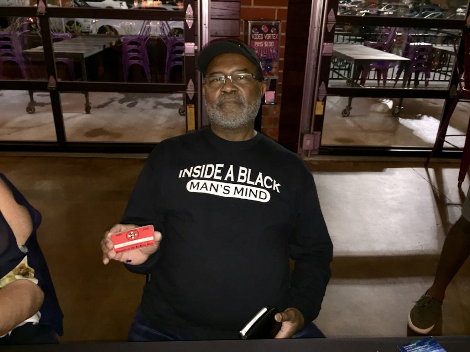 Author of BlacKkKlansman Ron Stallworth holds the Ku Klux Klan membership card issued to him by David Duke in 1979.