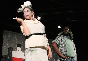 """Mary Rowland and Geraud Staton perform in """"It's What's for Dinner."""""""