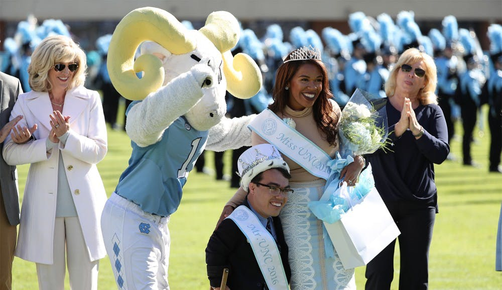 Miss and Mr. UNC announced at Homecoming football game