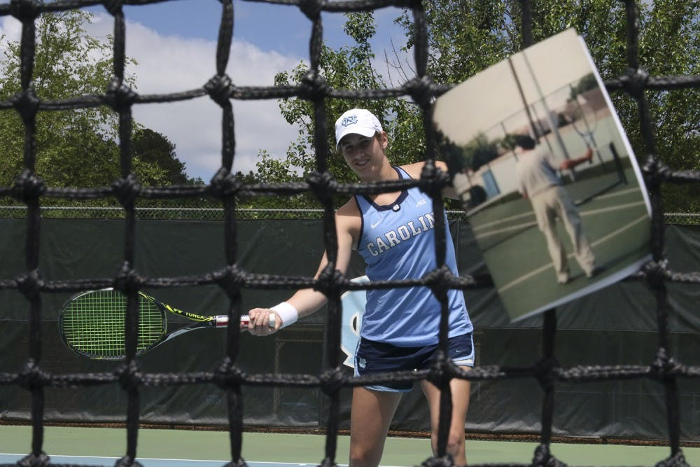 Two letters connect UNC's Hayley Carter with late dad