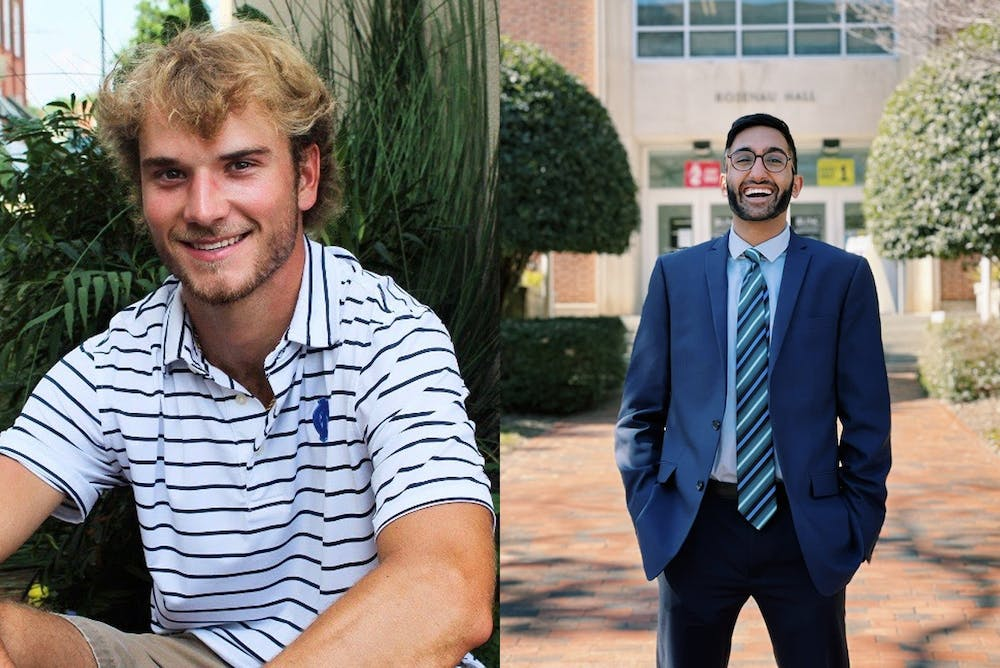 <p>Kade Sutton (left) was elected president of the Carolina Athletic Association run-off election while Neel Swamy (right) was elected president of the Graduate Professional Student Government. Photos courtesy of Sutton and Swamy.</p>