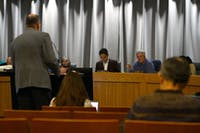 Members of the Chapel Hill Town Council answer questions about the development of the Obey Creek.