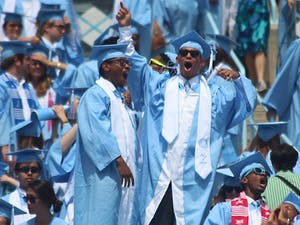 Graduation hosted 33,000 people on Sunday afternoon in order to honor degree earning students of the University of North Carolina at Chapel Hill.