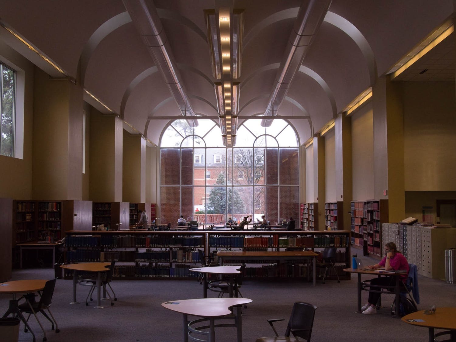 Students study in Davis Library on Tuesday, Jan. 26, 2021.