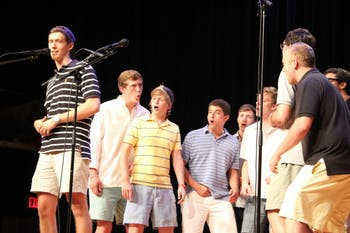 Recruitment Kickoff also included a performance of three songs by the Clef Hangers.