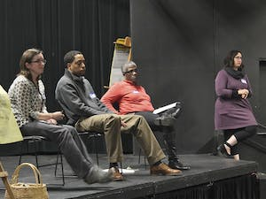 Chapel Hill citizens met on Wednesday at the ArtsCenter to open a dialogue about homelessness in the town.