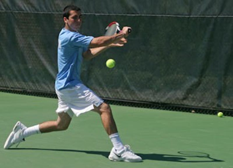 """Brennan Boyajian fell in both his singles and doubles match"""" as No. 34 North Carolina fell 5-2 to No. 14 Florida State Sunday. UNC also lost to Miami on Friday."""