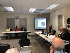 The Orange County Board of Elections held a public forum on Aug. 29, 2019 to discuss possible changes to local voting precincts.