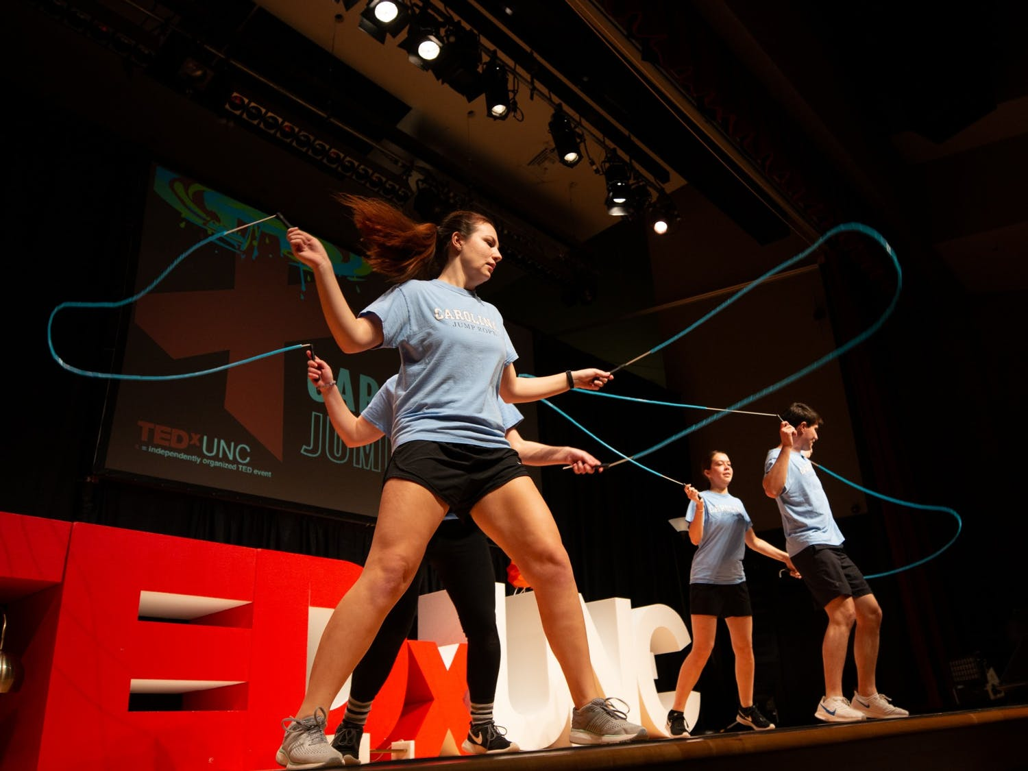 Members of UNC's Jump Rope Club performed at TEDxUNC on Saturday, Feb. 15, 2020.